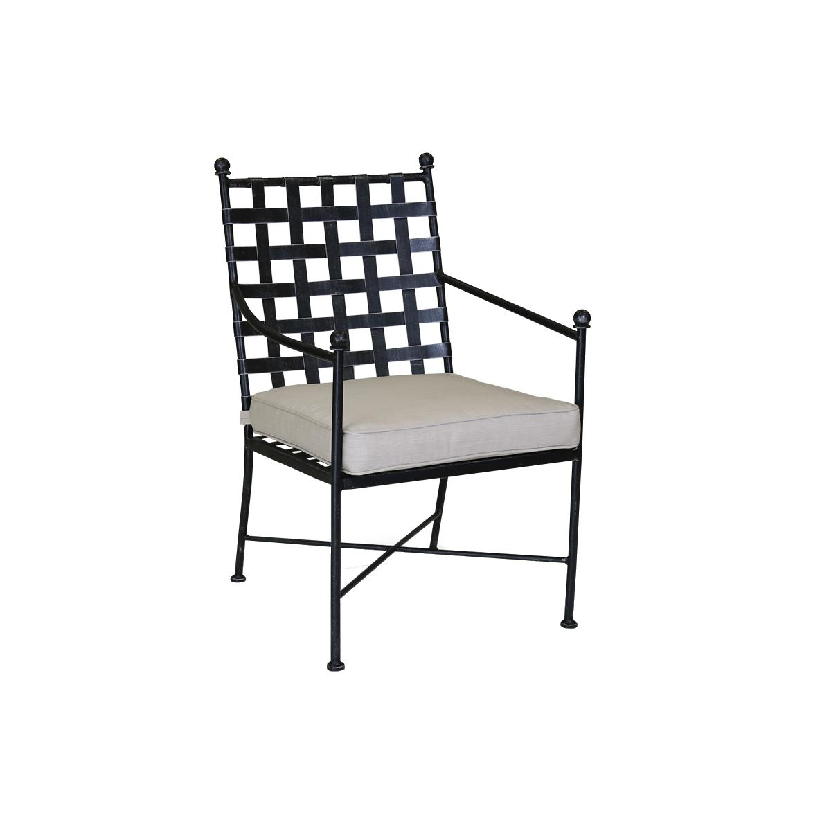 Sunset West Provence Wrought Iron Patio Dining Arm Chair W