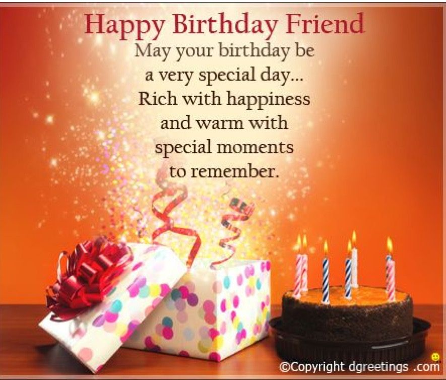 Pin By Paula Simon On Greetings From Me Happy Birthday Friend
