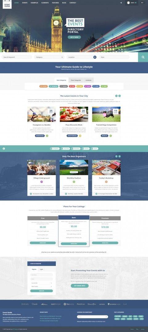 Event Wordpress Theme Portal Wordpress Theme Website Creation Professional Web Design Web Layout Design