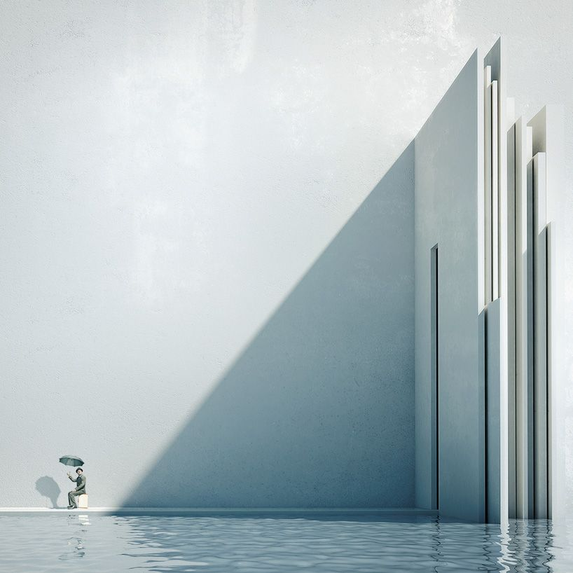 Michele durazzi surreal cityscapes juxtapose nature and for Minimalisme architecture