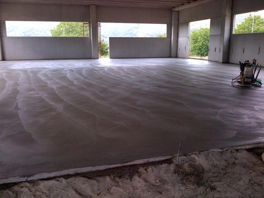 Our industrial floor is down