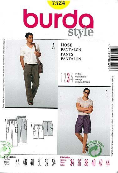 accf8fb7c0 spodnie męskie długie i bermudy - wykrój BURDA