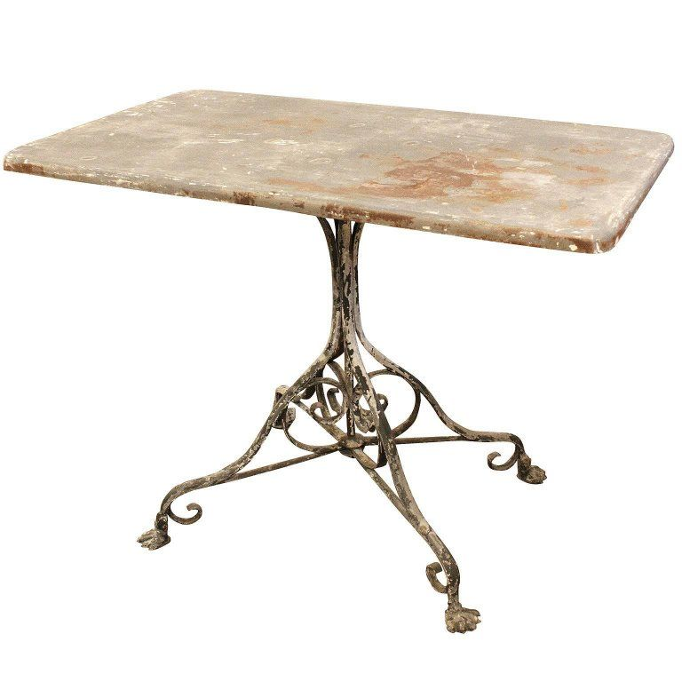 French Outdoor Wrought Iron Garden Table From Arras With