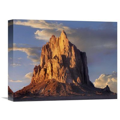 Global Gallery Nature Photographs Shiprock, The Basalt Core of An Extinct Volcano, New Mexico by Tim Fitzharris Photographic Print on Wrapped Canva...