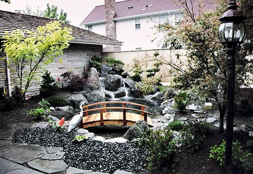 Japanese Water Garden Koi Pond With Waterfall! This Is Absolutely ZEN! A  Must Have