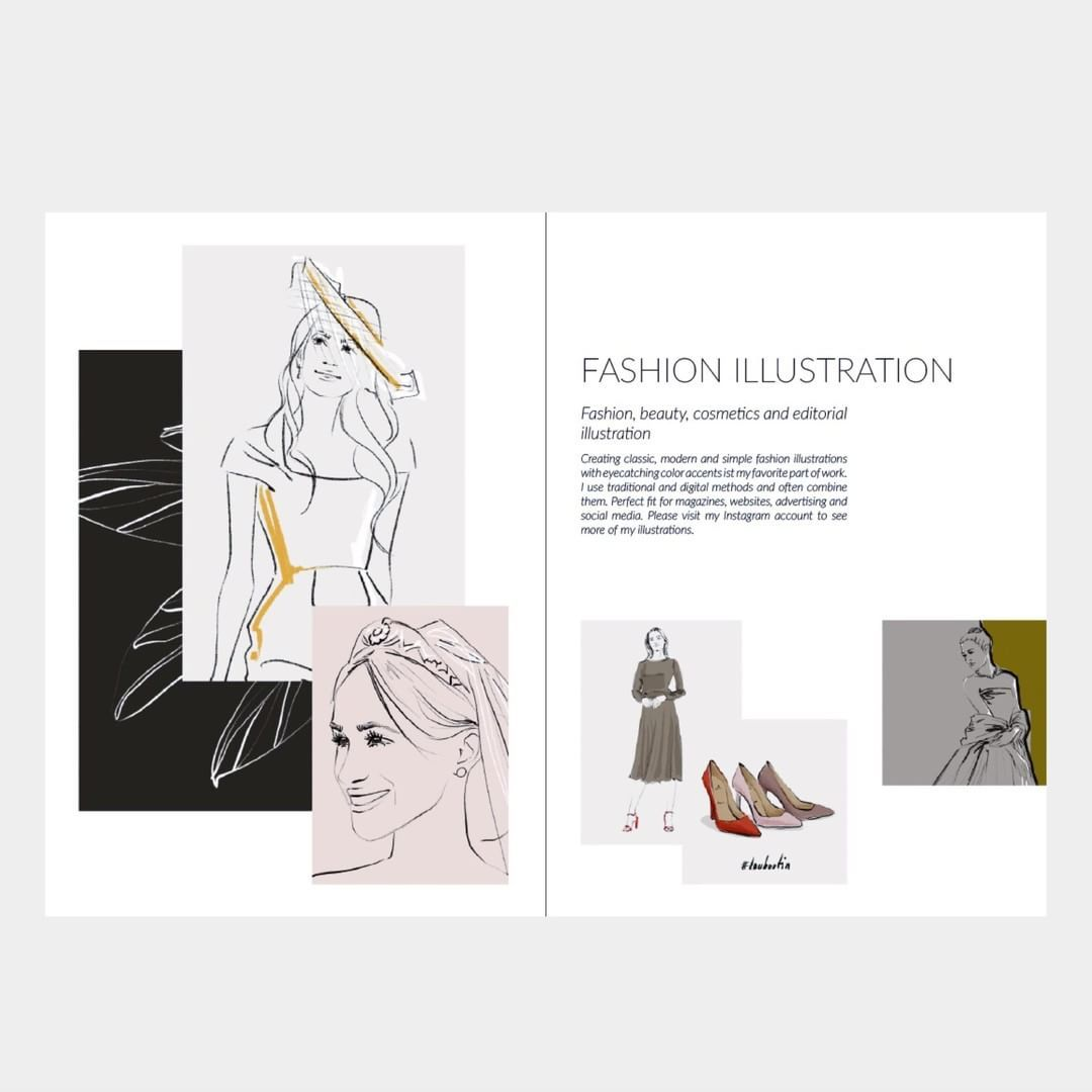 Fashion Illustration Currently Creating A New Layout For My Short