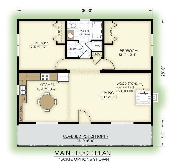 Blueridge Floor Plan Cottage Floor Plans Bedroom House Plans House Floor Plans