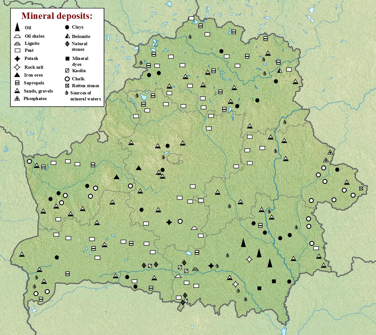 Belarus: minerals. Mineral deposits of Belarus