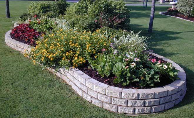 Pavers and Grass Backyard Ideas | Landscape Paver Edging ...