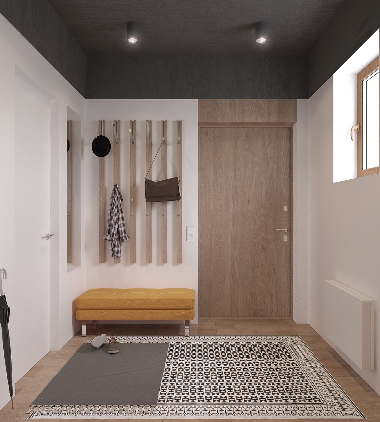 Inspiration d co hall d 39 entr e entr e maison appartement d coration http www m habitat - Amenagement couloir entree ...