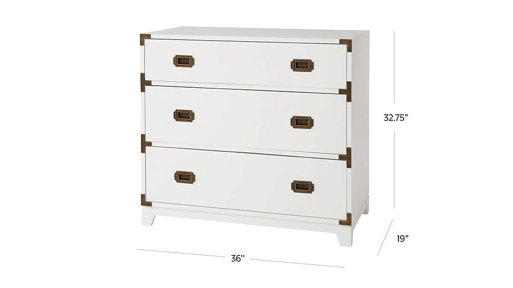 White Campaign Dresser Dimensions Potential For Style Of Living Room Unit Campaign Dresser Dresser Drawers 3 Drawer Dresser