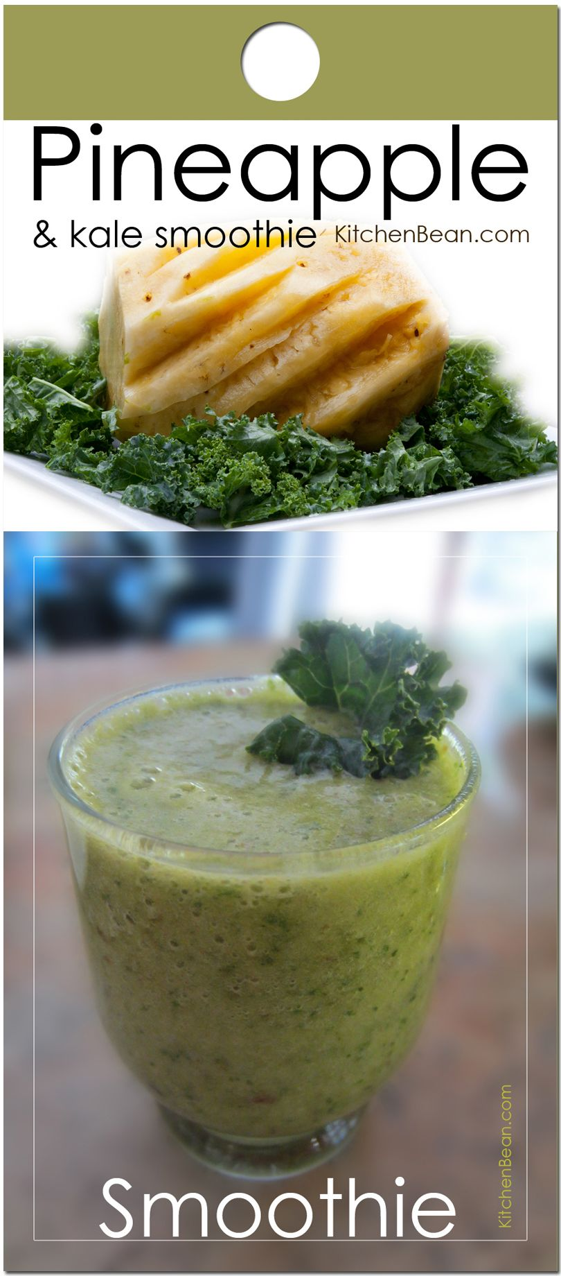Recipe - Pineapple, Baby Kale, Ginger, Dates and Coconut Water Smoothie