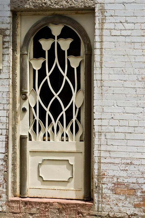White Flower Door In Greenville Texas
