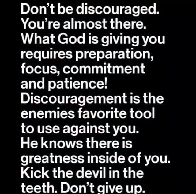be encouraged never give up inspirational quotes christian