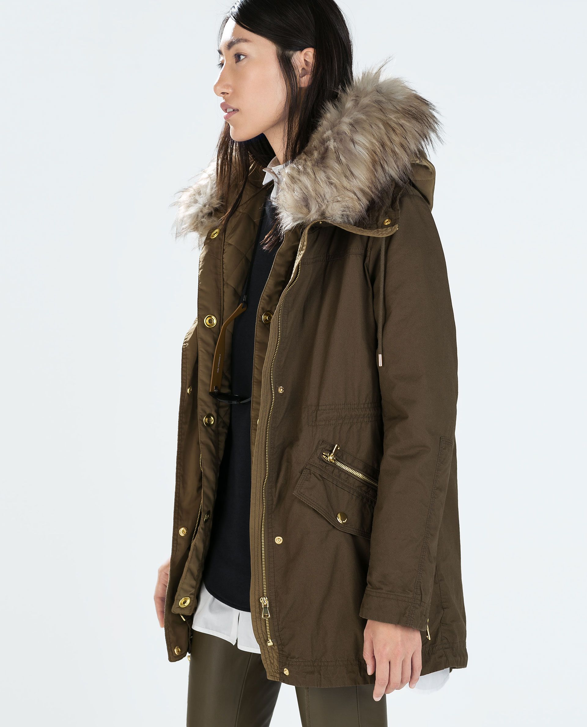 33d57649bdfe Image 2 of PARKA WITH DETACHABLE QUILTED LINING from Zara