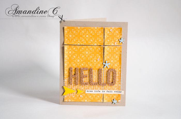 ·•●★ AmandineC Scrapbooking ✽ http://www.amandinec.com/blog  #amandinecscrapbooking #cleanandsimple #card #cardmaking #handmadecard #handmade #studiocalico @studio_calico