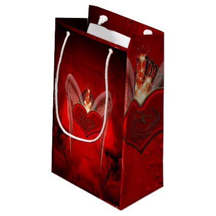Wonderful Heart With Wings Small Gift Bag In 2018 Valentines Day