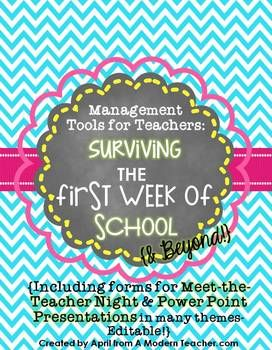 Meet the Teacher Back to School Pack First Week | 1st week