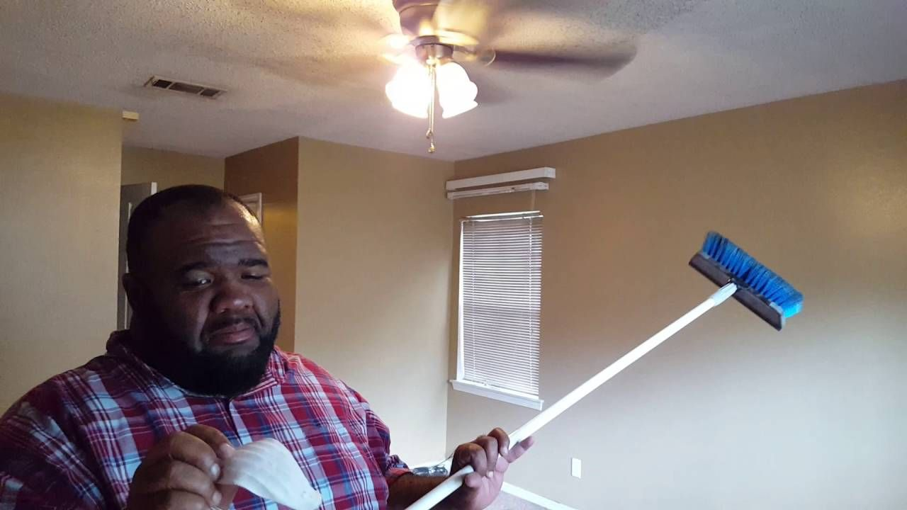 How to clean a popcorn ceiling without water or cleaning