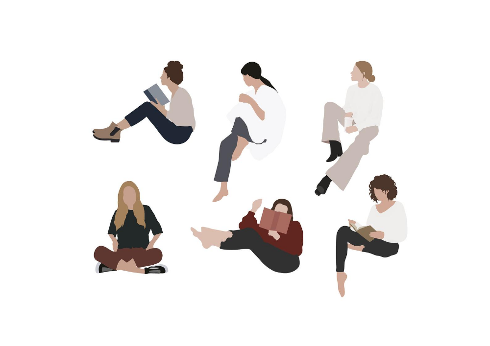 Flat Vector People Illustration Pack 6 Etsy In 2021 People Illustration Vector Illustration People People Sitting Png