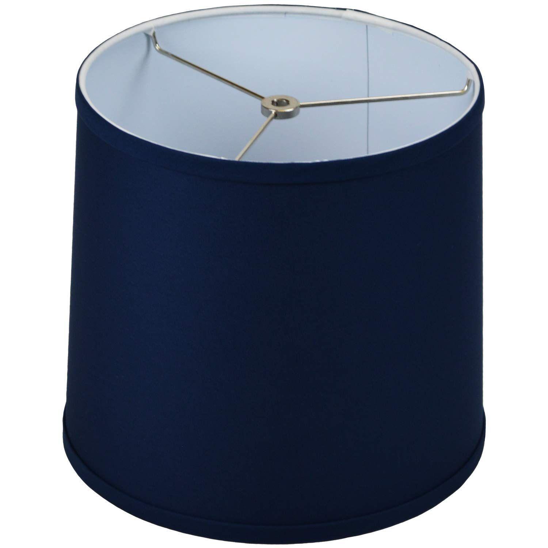 Fenchelshades Com 10 Top Diameter X 11 Bottom Diameter 10 Height Fabric Drum Lampshade Washer Attachment Navy Blue In 2020 Drum Lampshade Lamp Shades 10 Things