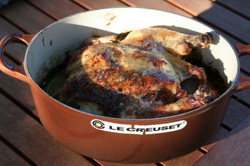 Two-ingredient roast chicken.