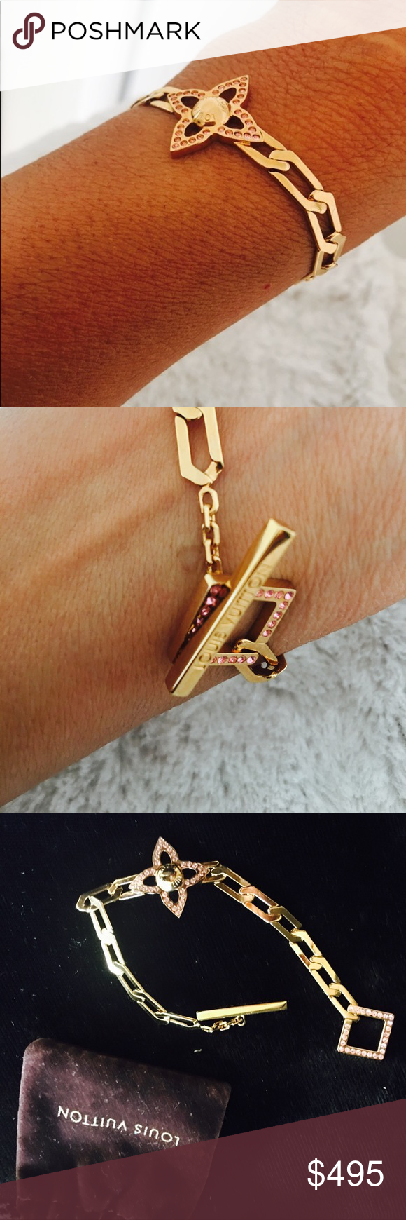 Gorgeous louis vuitton bracelet beautiful never worn authentic