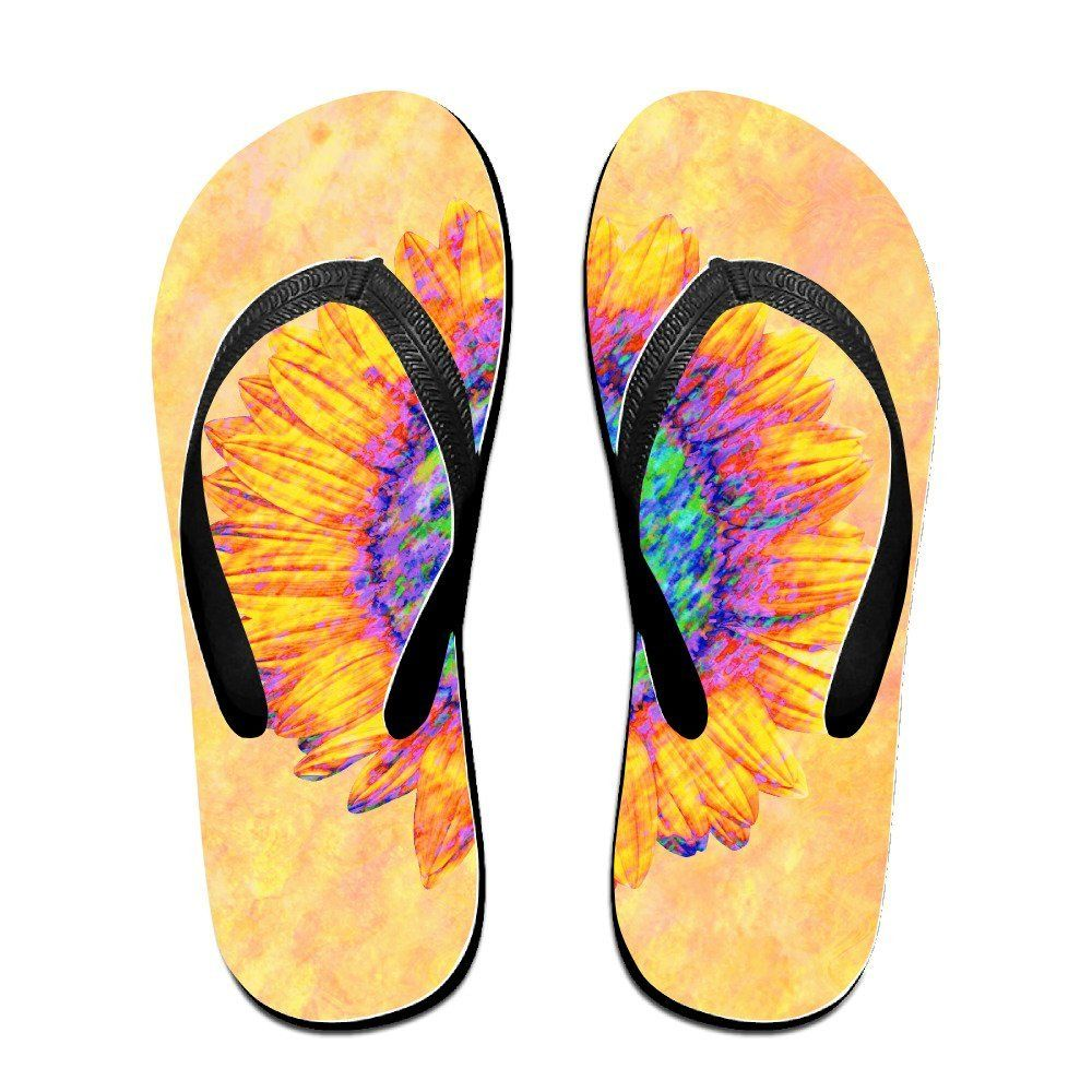 2abff1a019a97 Sunflower Art Flip Flops Beach Slippers   Find out more about the great  product at the