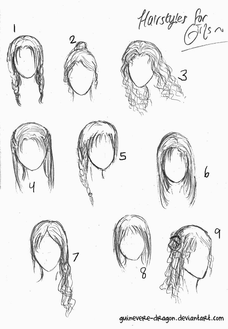 How to Draw Chibi Female Hairstyles How to draw hair