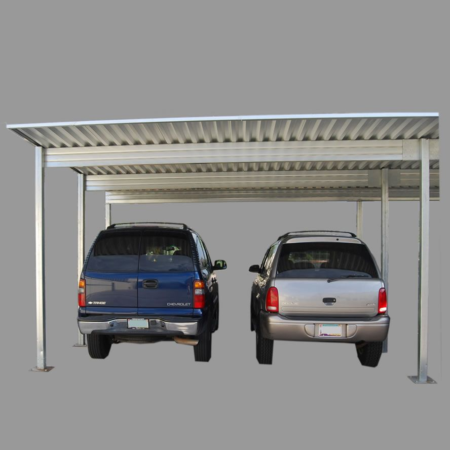 4 Post 2 Vehicle Carport Used As Patio Cover