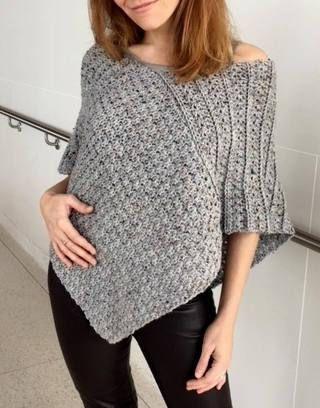 Crochet Sweater Pattern Poncho Pattern Crochet Wrap Pattern