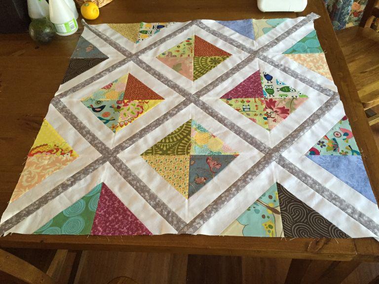 Adding Diagonal Sashing Tutorial Diagonal Quilt Quilts Quilting Crafts