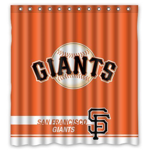 Best Home Choice MLB San Francisco Giants Polyester Bathroom Waterproof Shower Curtain 66W