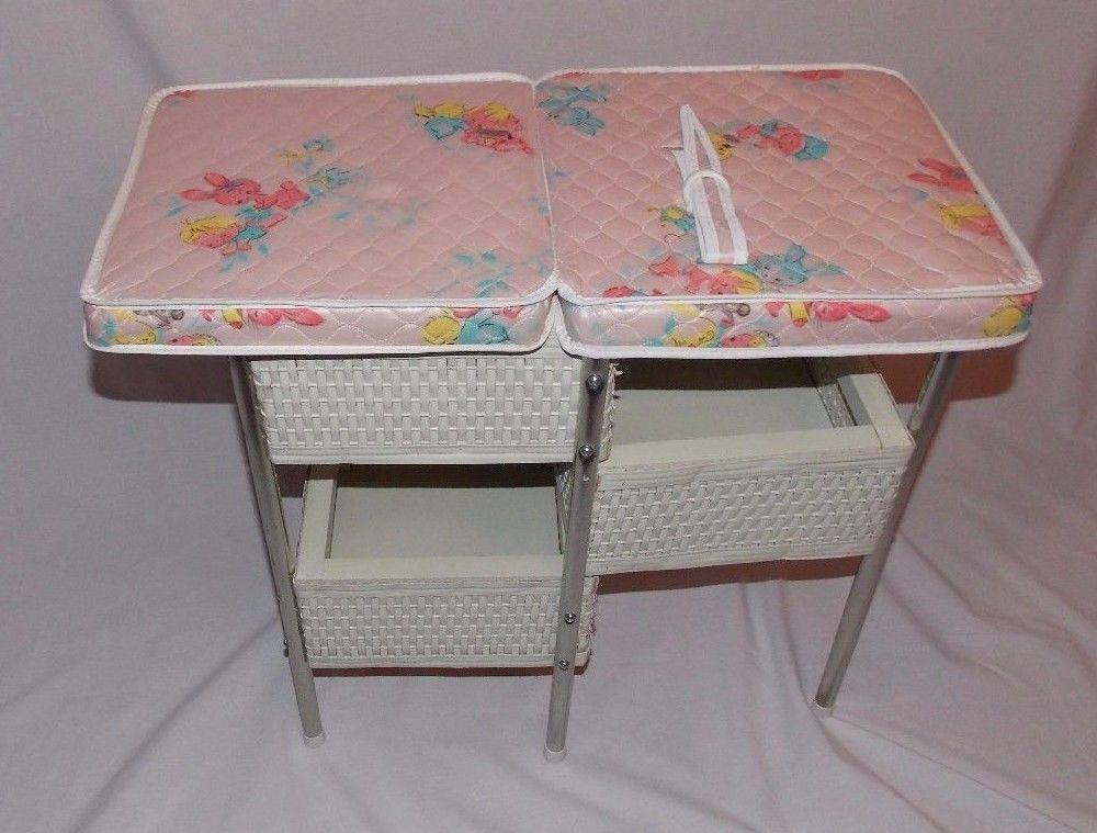Genial Vintage Badger Doll Baby Changing Table Wicker Nursery Furniture #Badger