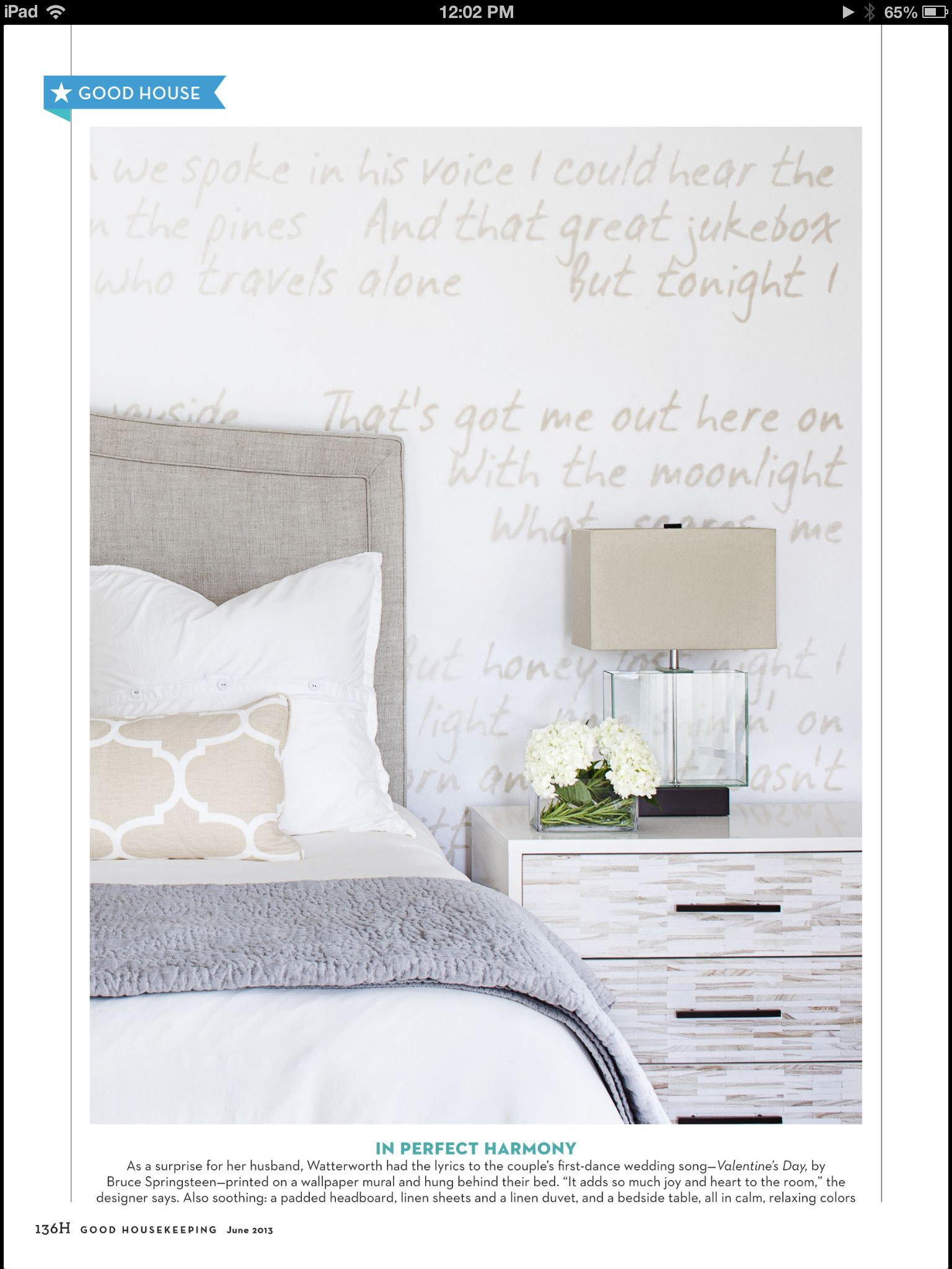 have the lyrics to your wedding song printed on custom wallpaper for the - Ly Design Your Bedroom
