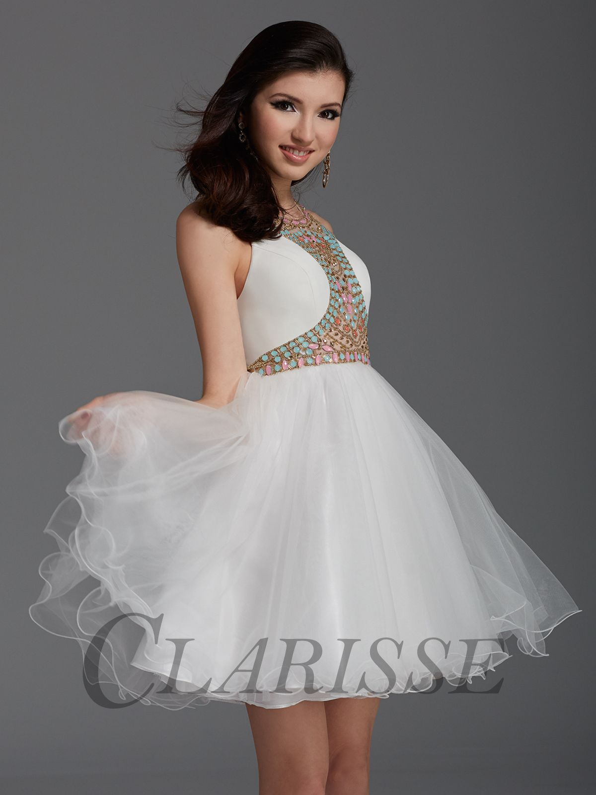 Clarisse white homecoming dress unique homecoming dresses