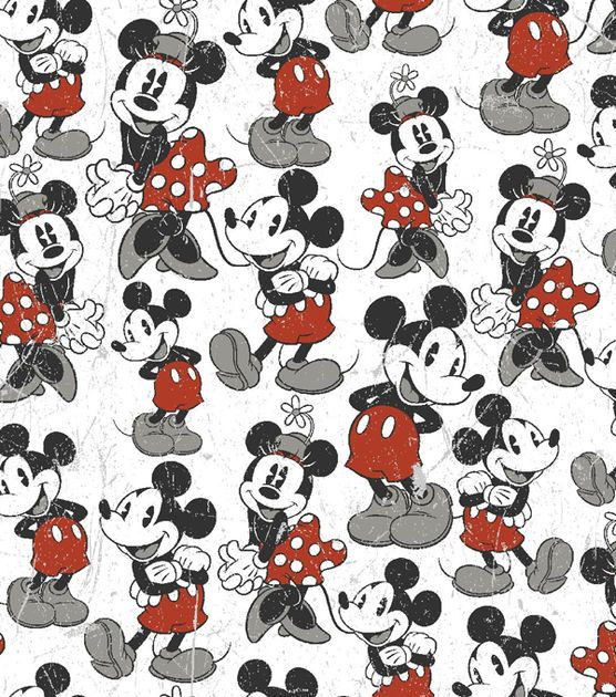 Mickey Vintage Comic Fleece Print Choice Of By Rolaniswonderland
