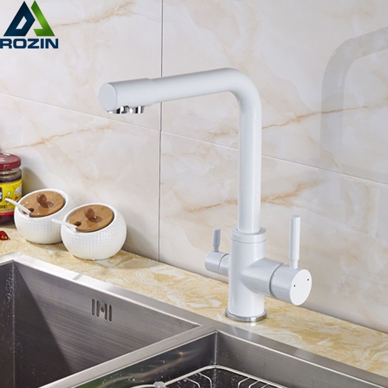 Beige With Dot Kitchen Faucet Purity Kitchen Sink Mixer Tap