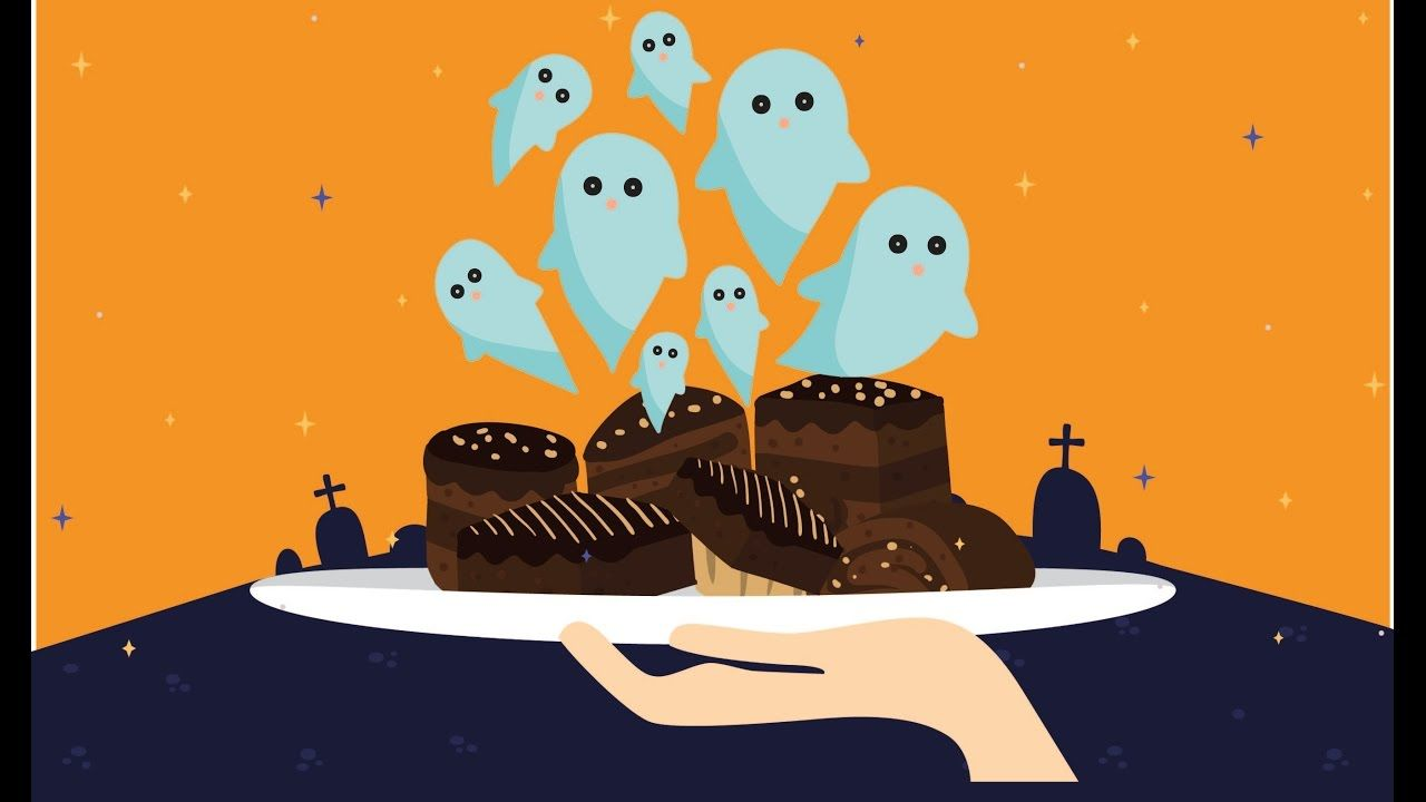 Brownies de fantasmas para Halloween❣