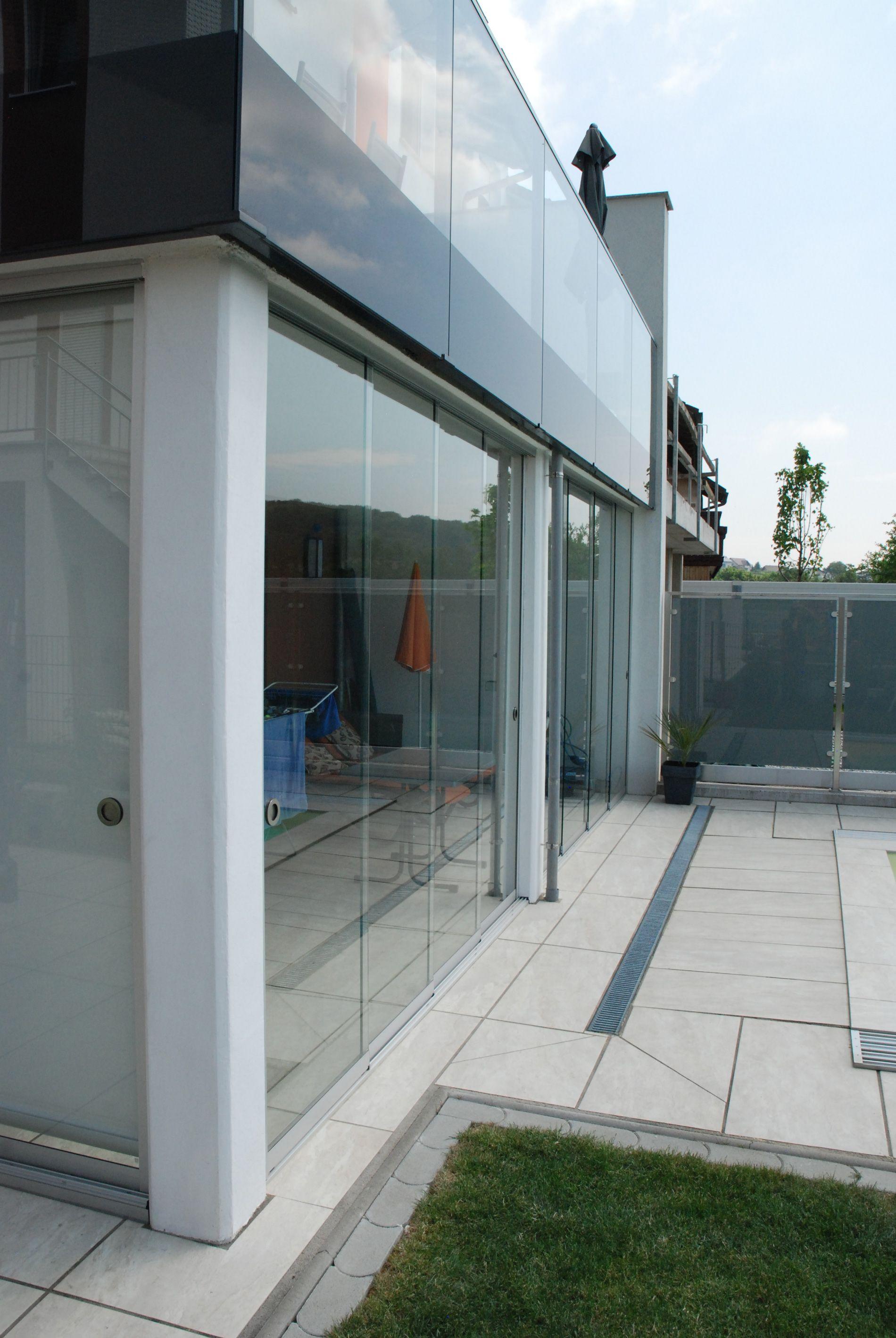 Wind Und Sichtschutz Fur Terrassen Aus Glas Glasschiebetur