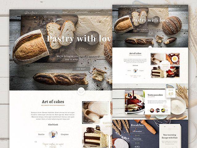 Panadería PSD plantilla website | Plantillas | Pinterest ...