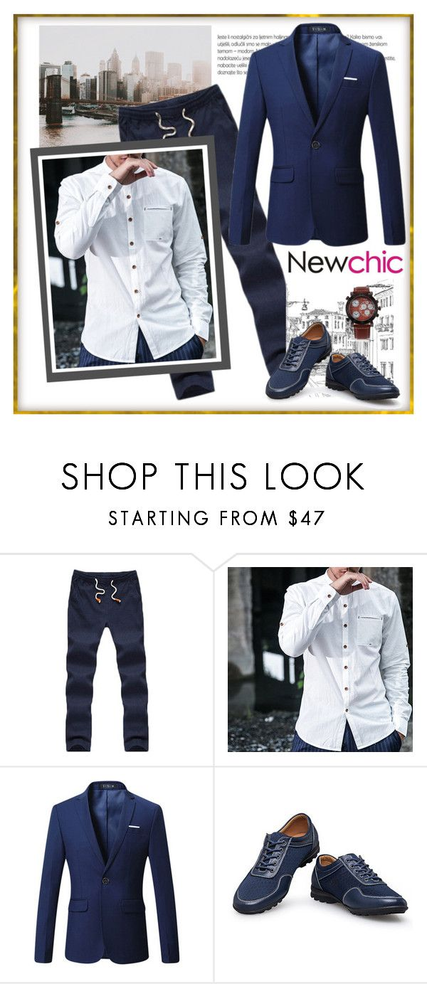 """NewChic 219. (Men 43.)"" by carola-corana ❤ liked on Polyvore featuring men's fashion and menswear"