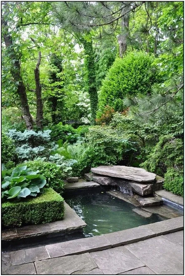 170 Incredible Side House Garden Landscaping Ideas With Rocks Page 40 With Images Water Features In The Garden Woodland Garden Outdoor Gardens