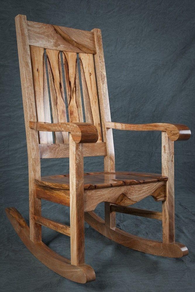 Brilliant Custom Made Mango Mission Rocker Wood Art Rocking Chair Camellatalisay Diy Chair Ideas Camellatalisaycom