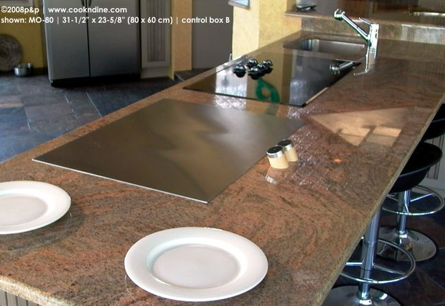 Nice Teppanyaki Grill Photo Gallery: Teppan Cook Top Built In, Tepan Yaki Hibachi  For Indoor + Outdoor Kitchen. Benihana Style Social Cooking Griddle, ...