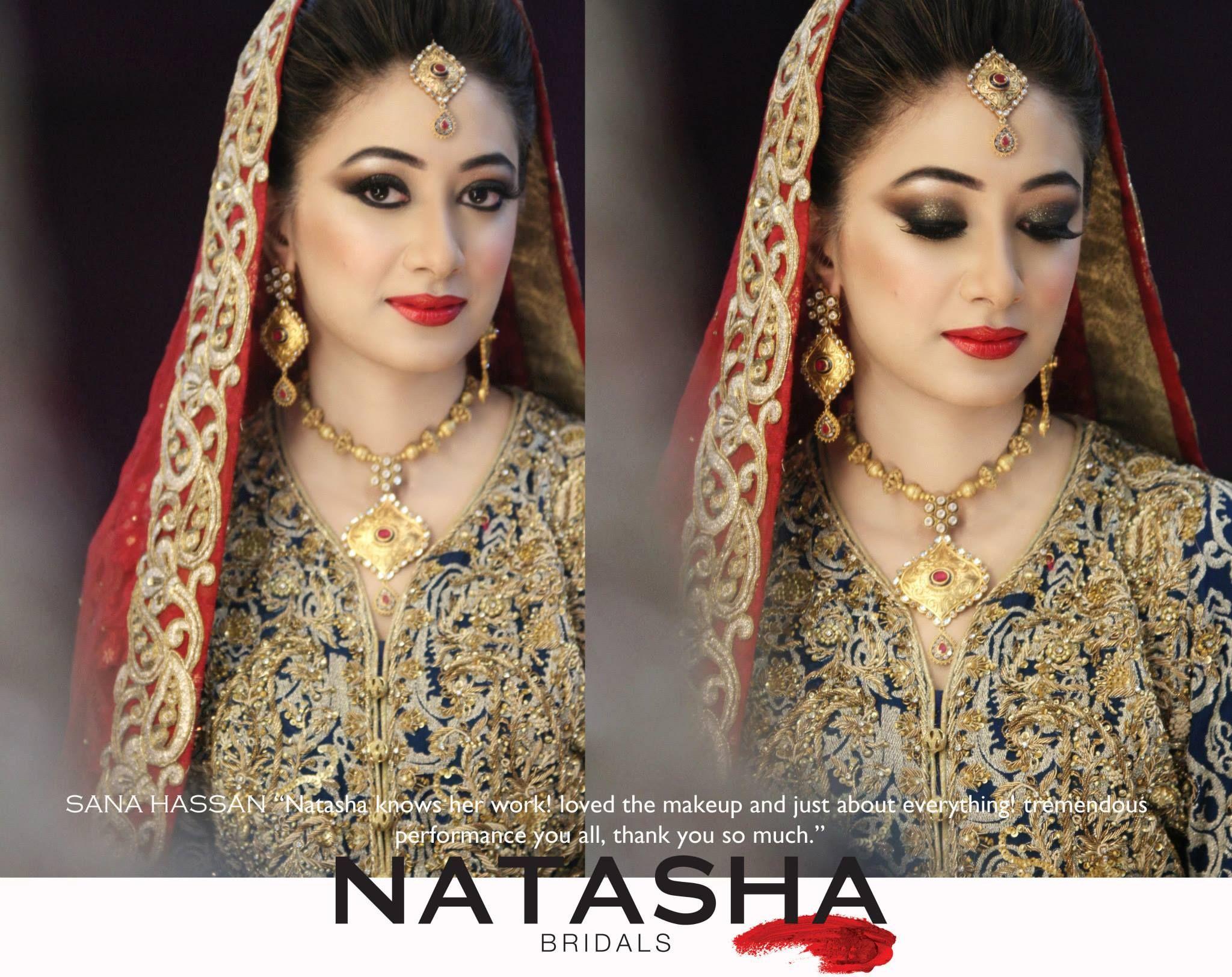 rukhsati bride with smokey eyes, makeup by natasha beauty salon