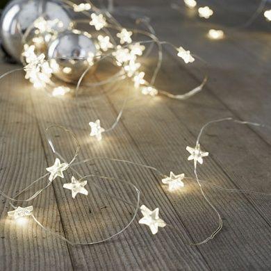 Star Fairy Lights - 40 Bulbs | Room Decorations | The White Company #fairylights