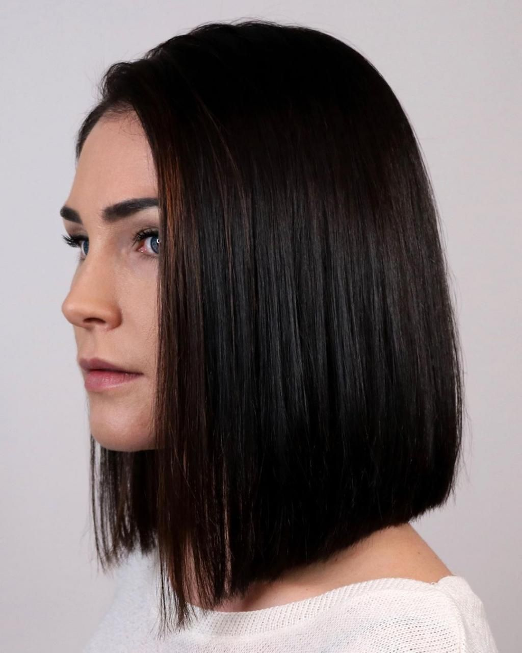 29 Shoulder Length Hair For Older Women In 2020 Lob Haircut Trending Haircuts One Length Haircuts