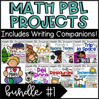 PBL Math Enrichment Projects - Math & Writing Bundle #1 #mathintherealworld