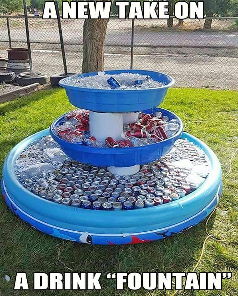 3 Tiered Drink Fountain For Parties Or Get Togethers